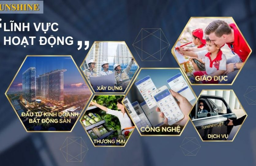 Lĩnh vực kinh doanh của Sunshingroup