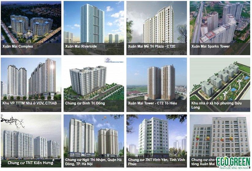 Các dự án được đầu tư bởi Xuân Mai Corp