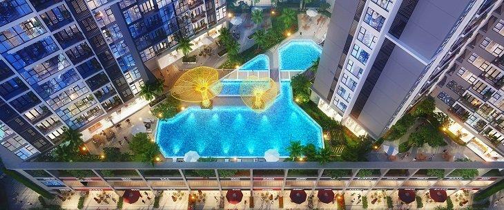 Hồ bơi nội khu hiện đại bật nhất Sài gòn