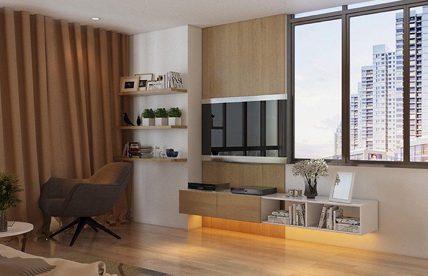 Phòng khách căn hộ D-Vela