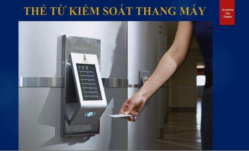 thẻ từ ra vào thang máy