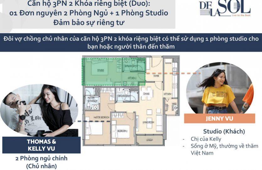 Thiết kế căn hộ De La Son Q4 - 2