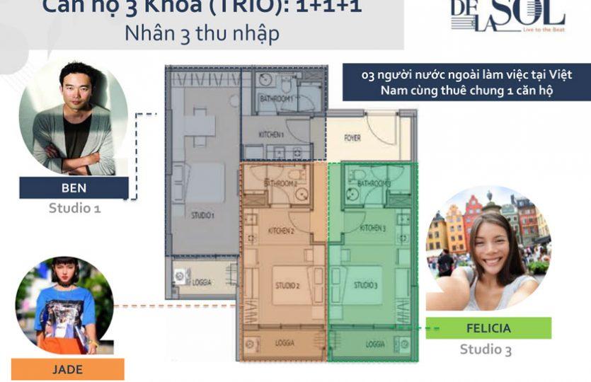 Thiết kế căn hộ De La Son Q4 - 3