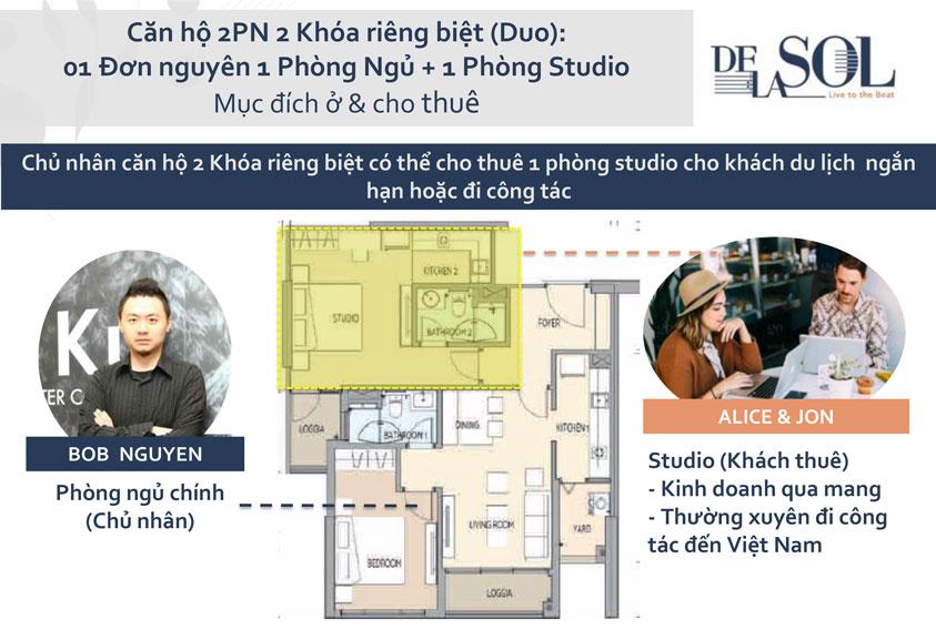 Thiết kế căn hộ De La Son Q4 - 1