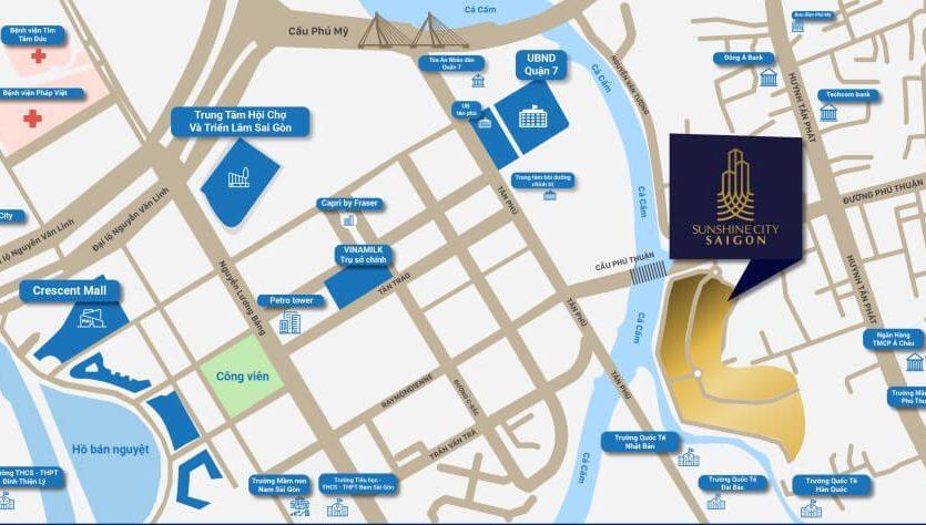 Vị trí dự án Sunshine City Saigon Quận 7