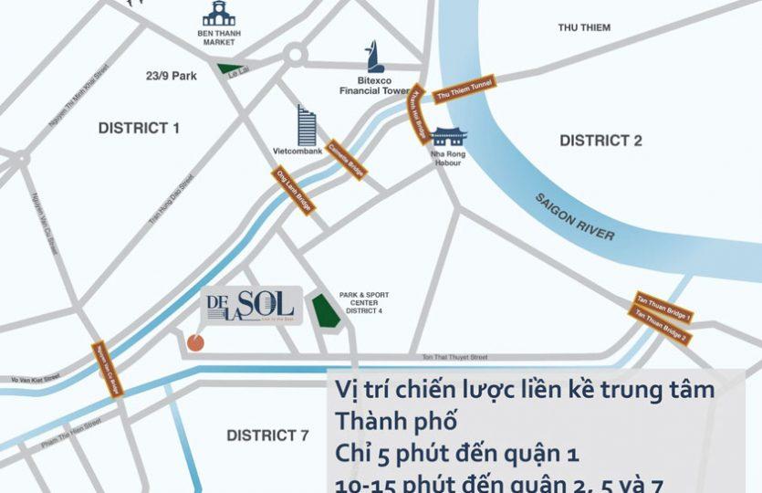 Vị trí dự án De La Son Q4